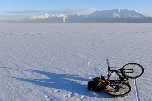 Let's take a ride: Ice biking across Utah Lake