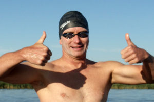 In the record books: Area man becomes first person to swim full length of Utah Lake
